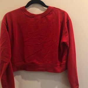 wild fable Tops - Cropped red crew neck sweatshirt. Small.